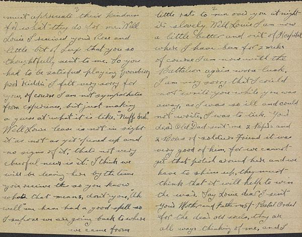 Hadwritten letter