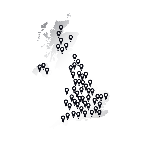 UK map graphic